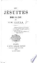Les Jésuites hors la loi