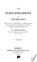 Les Juifs d'Occident, ou, Recherches sur l'état civil, le commerce et la littérature des Juifs, en France, en Espagne et en Italie, pendant la duré du Moyen âge