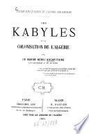 Les Kabyles et la colonisation de l'Algérie