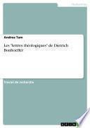 Les lettres théologiques de Dietrich Bonhoeffer