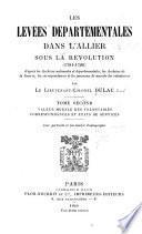 Les levées départementales dans l'Allier sous la révolution