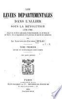 Les levées départmentales dans l'Allier sous la révolution (1791-1796)