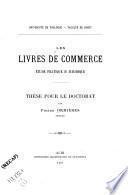 Les livres de commerce