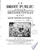 Les lois civiles d ans leur ordre naturel par Jean Domat