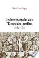 Les Loteries royales dans l'Europe des Lumières