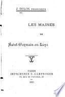 Les maires de Saint-Germain-en-Laye