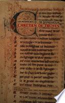 Les Manuscrits de Chrétien de Troyes