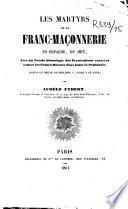 Les martyrs de la franc-maçonnerie en Espagne en 1853