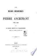 Les missions diplomatiques de Pierre Anchemant 1492-1506