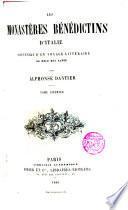Les Monastères bénédictins d ́Italie, souvenirs d ́un voyage littéraire au delà des Alpes