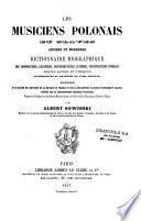 Les musiciens polonais et slaves anciens et modernes