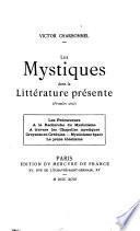 Les mystiques dans la littérature présente