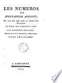 Les numéros du Spectateur anglois, qui out été omis dans la traduction françoise le texte avec l'anglois à côté Par m. Guillard