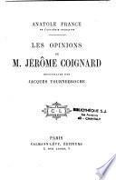 Les opinions de M. Jérome Coignard
