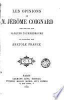 Les opinions de M. Jérôme Coignard