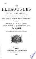 Les pédagogues de Port-Royal