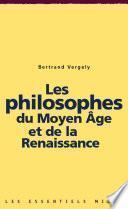 Les philosophes du Moyen Âge et de la Renaissance