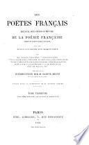 Les poëtes fran̨cais: Troisième période: de Boileau à Lamartine