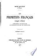 Les Primitifs français, 1292-1500