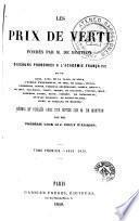 Les Prix de vertu fondés par M. de Montyon, 1