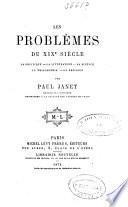 Les problèmes du XIXe siècle