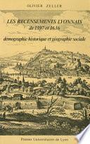 Les Recensements lyonnais de 1597 et 1636