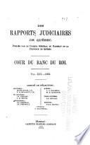 Les recueils de jurisprudence du Québec