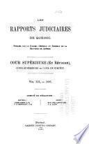 Les recueils de jurisprudence du Québec, publiés par le Barreau de Québec