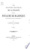 Les relations politiques de la France avec le royaume de Majorque