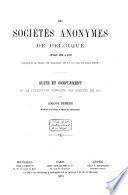Les sociétés anonymes de Belgique en 1857[-1873]