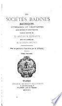 Les sociétés badines, bachiques, littéraires et chantantes