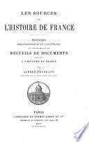 Les sources de l'histoire de France