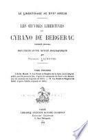 Les œuvres libertines de Cyrano de Bergerac ...