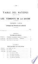 Les torrents de la Savoie