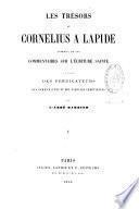 Les trésors de Cornelius a Lapide