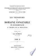 Les vicissitudes du domaine congéable en Basse-Bretagne