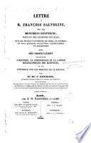 Lettre à M. François Salvolini sur les monuments égyptiens