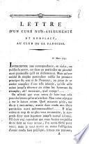 Lettre d'un curé non-assermenté et remplacé, au club de sa paroisse. 18 mars 1792
