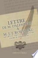 Lettre de M. d'Alembert à M. J. -J