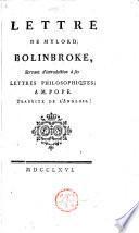 Lettre de Mylord Bolinbroke