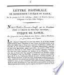 Lettre pastorale de Monseigneur l'Evêque de Namur sur les principes de la foi catholique, relatifs à la liberté des opinions religieuses et des divers cultes religieux