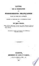Lettre sur la colonisation des possessions Francaises dans le nord de l'Afrique