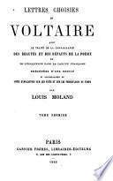 Lettres choisies [de Voltaire.]