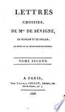 Lettres choisies en français et en anglais