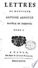 Lettres d'Antoine Arnauld