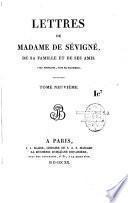 Lettres de Madame de Sévigné, de sa famille et de ses amis, avec portraits