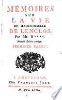 Lettres de Mademoiselle de Ninon de Lenclos, au marquis de Sévigné