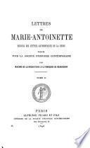 Lettres de Marie-Antoinette