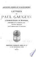 Lettres de Paul Gauguin à Georges-Daniel de Monfreid