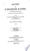 Lettres de S. Francois Xavier